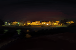 Night lights in Fuerta Ventura by THEBIONICBOI