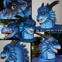 Blue Dragon Azurath Sculpt by DragonosX