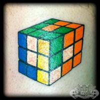 Rubix Cube by state-of-art-tattoo