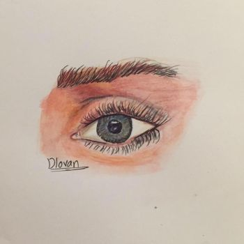 colored pencil (eye) by DlovanD