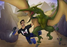 Markiplier: Dino Horde by Nick-McD
