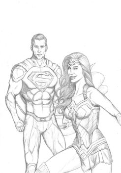 Superman - Wonder Woman pencils 21 05 2017 by LucasBoltagon
