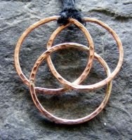 Copper Protection Necklace by MoonLitCreations