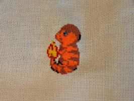 Charmander cross stitch by dottypurrs