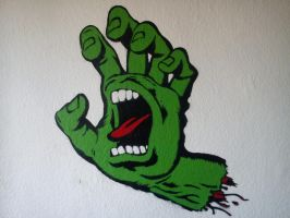 Stencil Screaming Hand by Burgi687