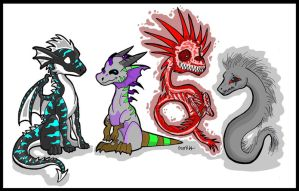 Dragon Babies by XenoPredDragon