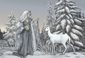Yuletide Goddess by Spellster