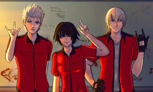 Collab: +-DMC3- Vocational High School + by AngelJasiel