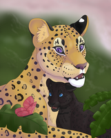 Leopard And Cub by TickTockTheBoomBunny