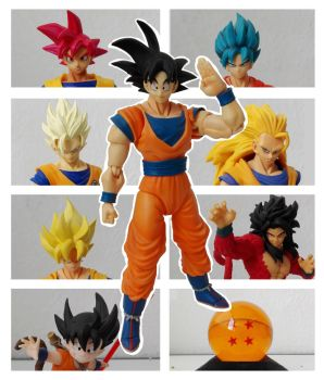 Goku Figure collection by danteshinobi