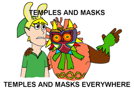 Temples and Masks Everywhere by FunnyDank