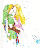 Link and Zelda request by SquirtSapphire