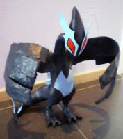 Paper-mache Shadow Lugia by LittleMissAntiSocial