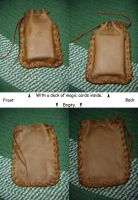 Homemade Leather Pouch by somechick73