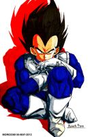 VEGETA-DRAGON BALL Z (MARKER-COLOR) by MUERTITO69