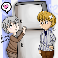 Someone loves their fridge a bit too much by Melartin