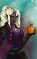 Commission: Female drow portrait by iara-art