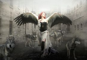 Gothic_Dark_Angel_Fae_by_KYghost by KYghost