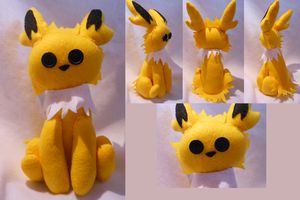 Jolteon Plush ~For Sale~ by FuzzyAliens