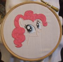 Pinkie Pie embroidery by Scarygothgirl