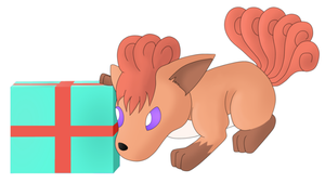 Vulpix's Present by The-3Dan