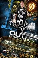 DJ Locorious Party Flyer Back by stevisimo
