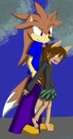 Me and Nicco ^^ by MiyekoTheArticWolf