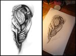 Tattoo design Biomeh 01 by grimmy3d