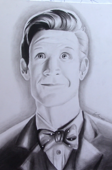 Doctor Who Matt Smith Portrait by AnthonyParenti