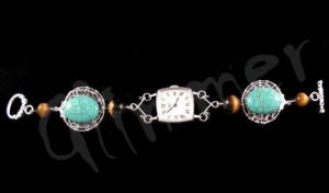 turquoise eyes watch by kufka