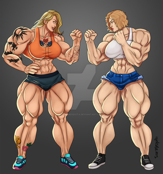 [HulkOut] Face off - Amber vs Liz by roemesquita