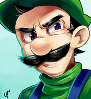 Angry Luigi by LOYProject