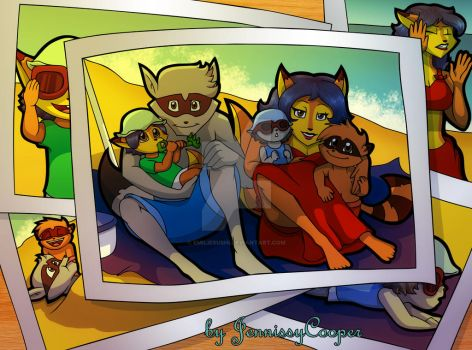 Their first day at the Beach by JennissyCooper