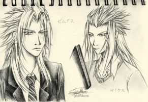 KHC: Xemnas and Saix by anuhesut