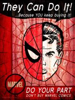 Peter Parker is DEAD Propaganda Art by HalHefnerART