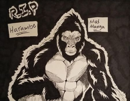 R.I.P Harambe! (Your Memory Lives On) by Max-Manga