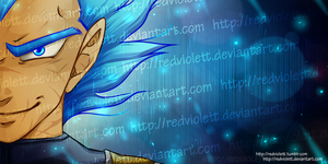 DBZ - Super Saiyan God Vegeta by RedViolett