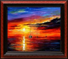 Seascape by Leonid Afremov by Leonidafremov