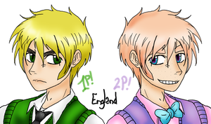 England - 1st Player and 2nd Player by TheGaaThing