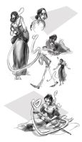 Lamia Sketches by FablePaint