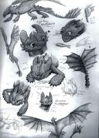 Toothless Sketchdump by mittenstheninjakitty