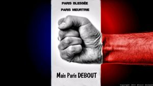 Wounded Paris, bruised Paris But Paris stand up by Gislaadt