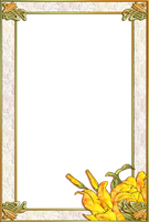 Art Nouveau Lily Frame by OokamiKasumi