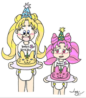 Double Birthday Bunnies Color by JayManney4Life
