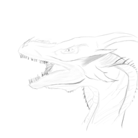 dragon from rein of fire doodle by ExoticVirtue