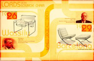 Modern Lounge Chairs Poster by all-one-line