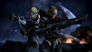 The Vakarian siblings - Garrus and Solona by Natsumi494