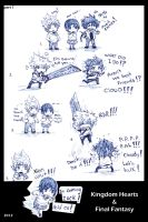 Kingdom Hearts and Final Fantasy mini comic 1 by KickBass77