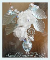 Snowblossom necklace in glass by fairyfrog