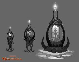 Neverwinter Concept: Brain Jars by CarmenSinek